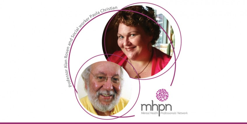 Professor Alan Rosen and Social worker Paula Christian MHPN logo Mental Health Professional's Network