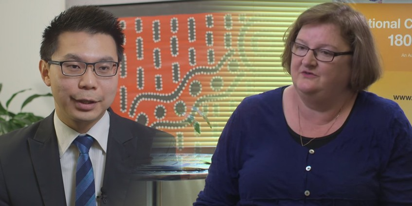 Dr Tee Juan Ong and Christine Murray