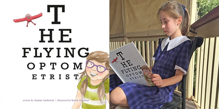 The Flying Optometrist cover and Louise Hill