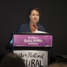 Cairns theatre director Avril Duck spoke on using theatre as a community development tool.
