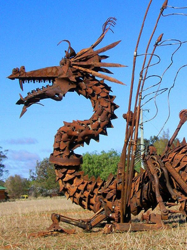Rain Dragon by Andrew Whitehead won First prize in the 2009 National Farm Art Sculpture Competition  Photo: Andrew Whitehead