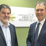 National Rural Health Commissioner Professor Paul Worley and Interim NRHA CEO Mark Diamond during Paul's visit to NRHA