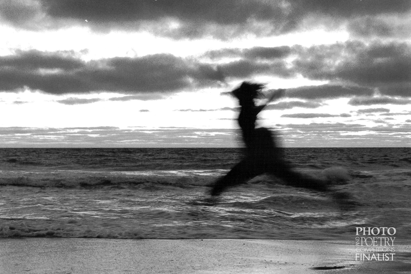 Tristan Kelly - Dancing Silhouette - The sun had just dropped below the horizon of a seemingly endless 'private' beach. This provided plenty of reason to jump for joy!