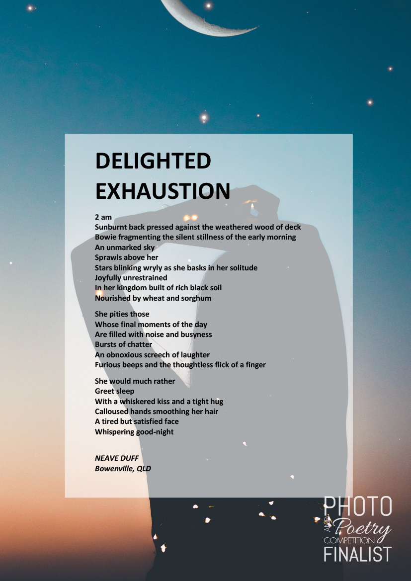 DELIGHTED EXHAUSTION - NEAVE DUFF, Bowenville, QLD