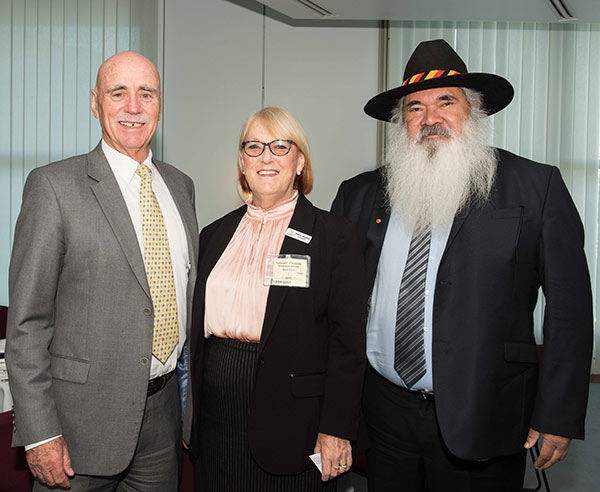 L-R The Hon Warren Snowdon, Member for Lingiari, NT Heather Heighley, Member of NRHA Council representing the Australian College of Nursing (Rural Nursing and Midwifery Community of Interest) Senator Pat Dodson, Senator for Western Australia