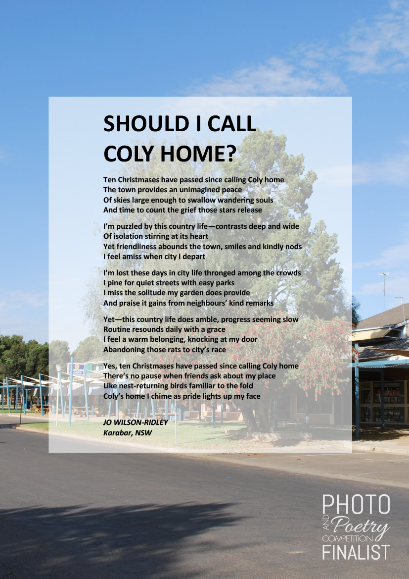 SHOULD I CALL COLY HOME? - JO WILSON-RIDLEY, Karabar, NSW