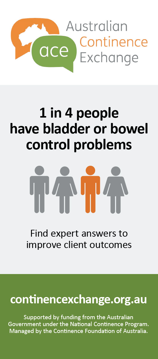 Australian Continence Exchange 1 in 4 people have bladder or bowel control problems