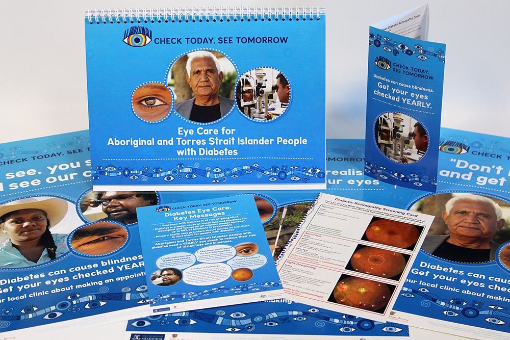 Eye care educational material.