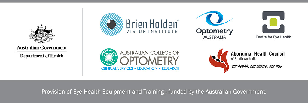 Provision of eye health equipment and training - Logos
