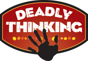 Deadly Thinking logo with hand print logo