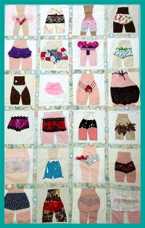 Undies quilt by Perth Modern Quilters