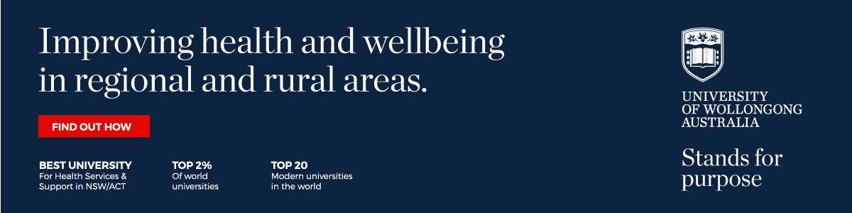 Improving health and wellbeing in regional and rural areas.
