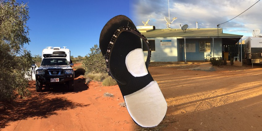 Sara spends 26 weeks a year providing podiatry services to 14 Central Australian communities