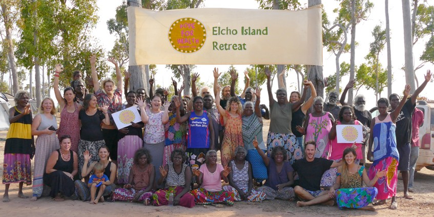 Group photo of Echo Island Retreat