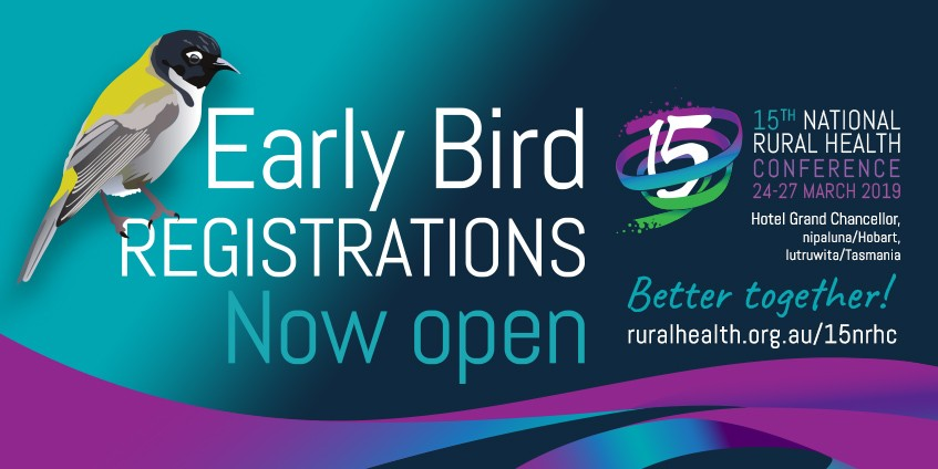 Early bird registrations now open