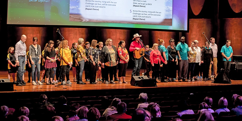 Josh arnold and the Conference choir