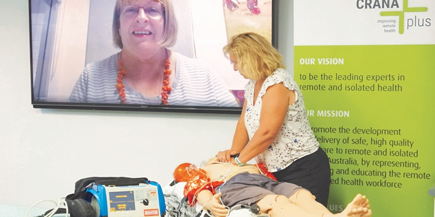 Online life support training in action. Photo: Denise Wiltshire