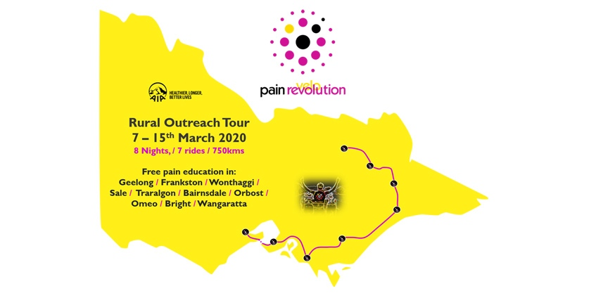 Locations and dates for the Pain Revolution tour. Image: Pain Revolution