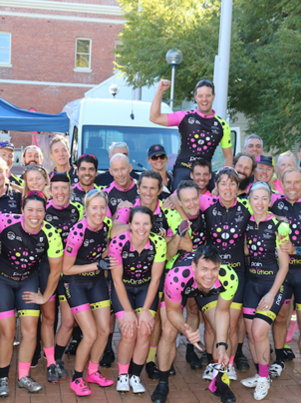 Pain Revolution Ride participants