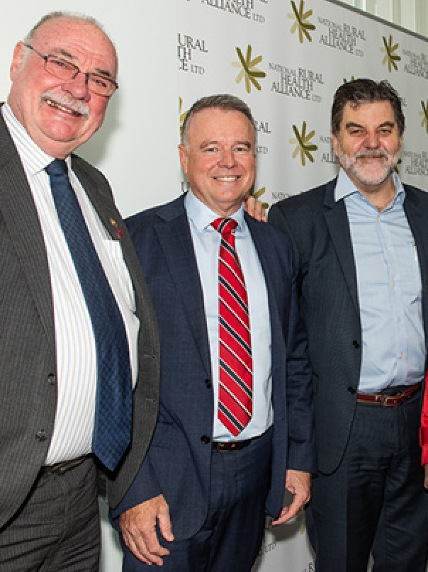 (L to R) Warren Ensch (LP, Qld), Joel Fitzgibbon (ALP, NSW), Alliance CEO Mark Diamond, Alliance Chair Tanya Lehmann, and Warren Snowden (ALP, NT) at the Parliamentary Friends of Rural and Remote Health breakfast