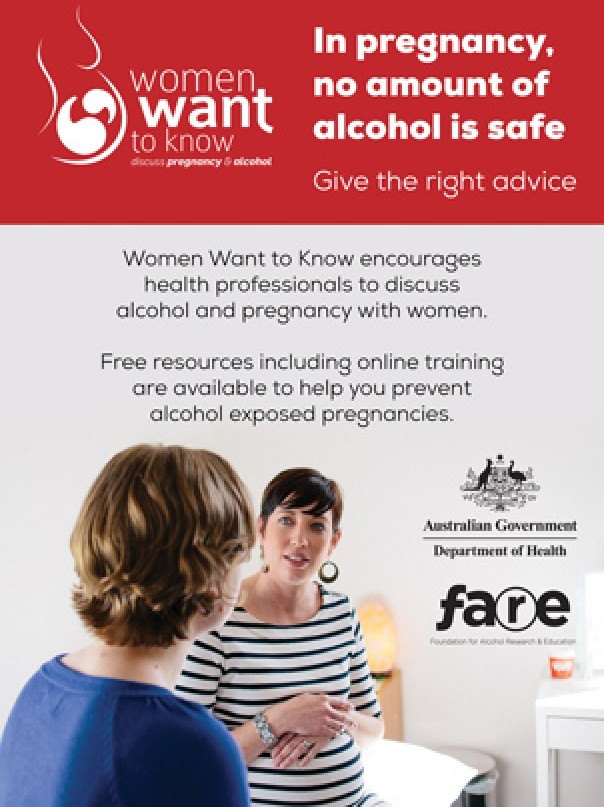 Ad - In pregnancy, no amount of alcohol is safe - afare