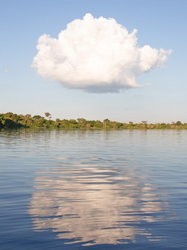 Cloud over a lake