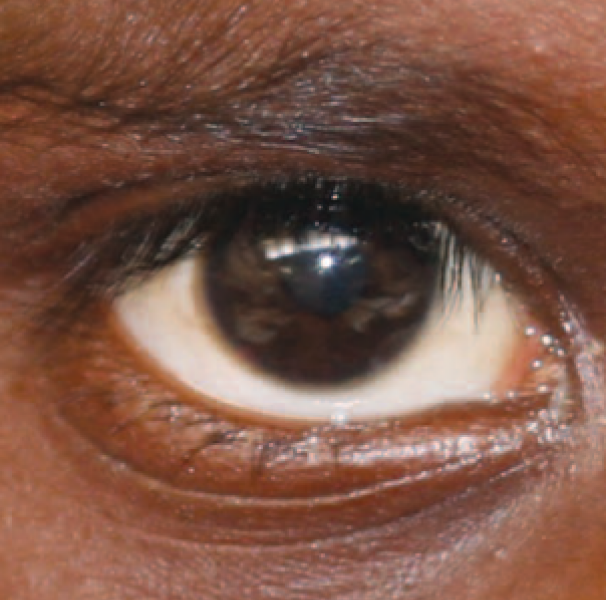 Indigenous boy eye close up