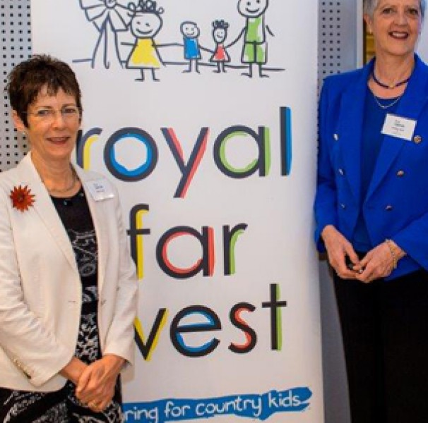 Mrs Hurley and Royal Far West CEO Lindsay Cane