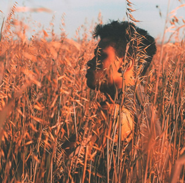 Man in long grass