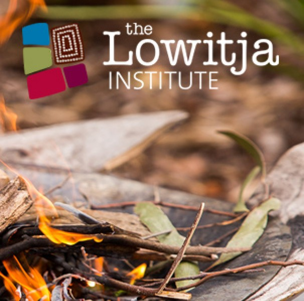 Lowitja logo over smoking ceromony