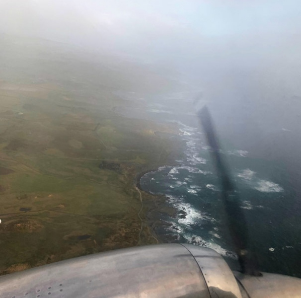 Flying into King Island. Photo: Lana Best