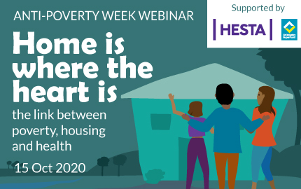 15 October 12:30pm: Exploring the links between poverty, housing and health.