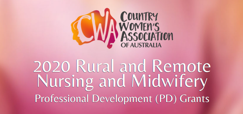 CWAA Rural and Remote Nursing and Midwifery Professional Development (PD) Grant 2020