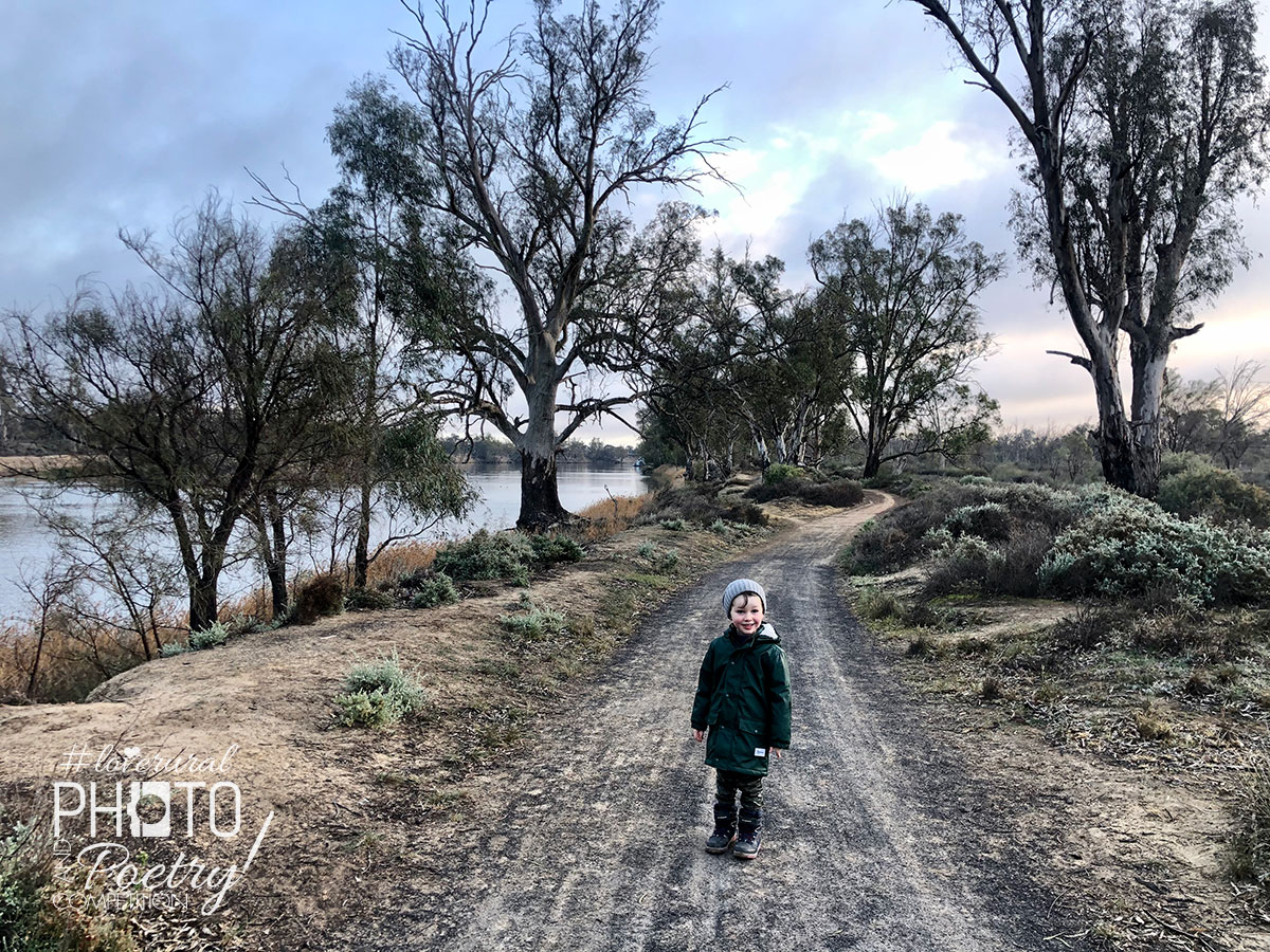 FIRST PLACE WINNER - Inquisitive Three Year Old, Winter Morning, Murray River, Mildura. Photo: Jessica Eden. Prior to the second Melbourne lockdown I took the opportunity to plan a 5 day regional Victoria roadtrip with my son. Hiking along the magnificent Murray River in Mildura early this winter morning was such a wonderful escape. With abundant wildlife and a spectacular display of wildflowers we discussed the land, the indigenous history and sang songs copying the birds. Such a memorable holiday with my inquisitive 3 year old!