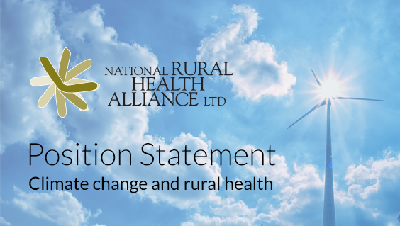 Position Statement Climate Change and rural health