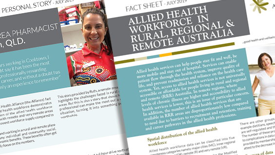 Allied health fact sheet and personal story