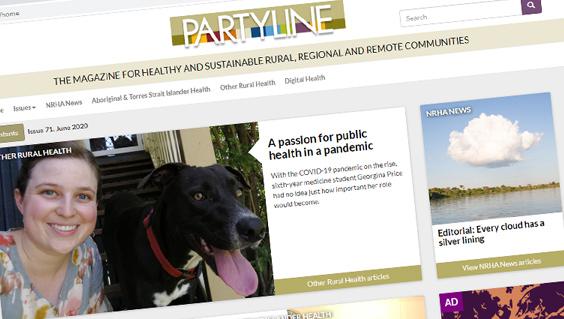 Partyline screen shot issue 71June 2020