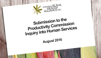 Submission Productivity Commission into Human Services