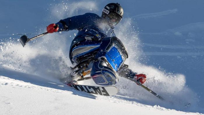 Sam Tait on the slopes