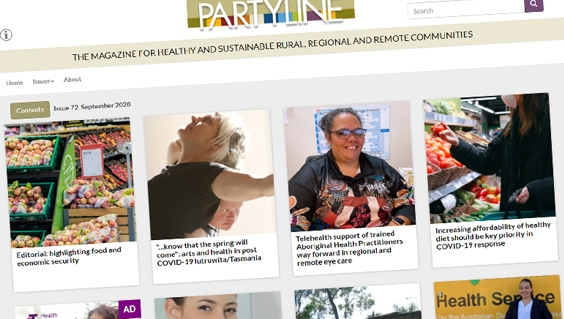 Partyline screen shot issue 72 September 2020