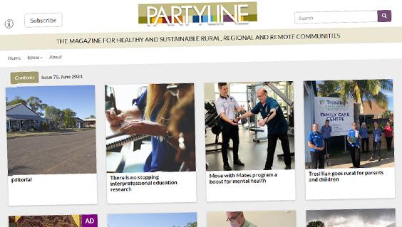 Partyline website screen capture